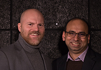 PhD Anders Berglund, Cenox Solutions, och PhD Neeraj Sonalkar, Stanford University